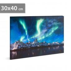 FAMILY POUND - Tablou, cu LED – Lumină Polară. 2 x AA, 30 x 40 cm