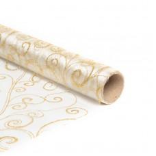 Napron de Crăciun, lung, - auriu - 180 x 28 cm