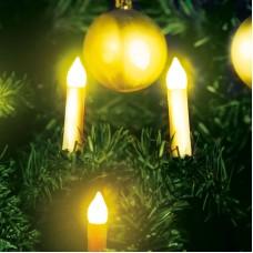 Sir de lumanari pt. pomul de Craciun, 10 LED, alb cald, 2xAA