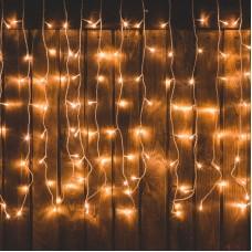Cortina luminoasa LED - 2,2m x 1,5m - alb cald - 8 functii - IP44