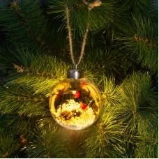 Ornament de pom de Craciun cu LED - alb cald - 8 cm
