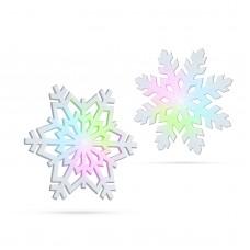 Fulg de zăpadă luminos LED RGB - 10 cm, 4 modele