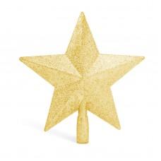 Ornament pt. vârful pomului de Crăciun - model stea - 20x19 cm - auriu