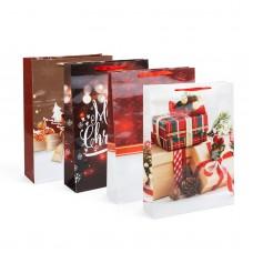 Sacoşă, pt. cadouri de Crăciun 330 x 102 x 457 mm, 12 buc. / pachet