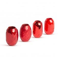Panglică pentru cadouri de Crăciun - argintiu, roşu, auriu