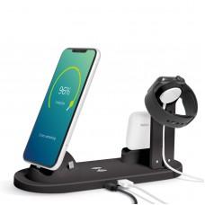 Bewello - Staţie de încărcare fără fir - Pt. telefoane mobile, ceasuri, căşti - negru