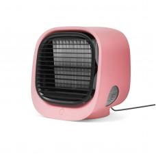 Bewello - Mini-ventilator portabil cu funcţie de răcire - USB - Roz