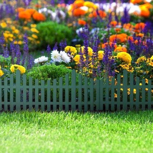 Bordura pt. pat de flori / gard - 60 x 23 cm - Verde