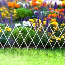 Bordura pt. pat de flori / gard - extensibil, 150 x 50 cm - alb