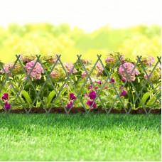 Bordura pt. pat de flori / gard - extensibil, 150 x 50 cm - Verde
