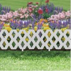 Bordura pt. pat de flori / gard - 60 x 22 cm - alb