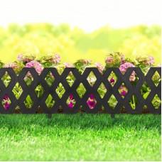 Bordura pt. pat de flori / gard - extensibil, 60 x 22 cm - Negru