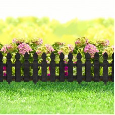 Bordura pt. pat de flori / gard - extensibil, 51 x 30 cm - Negru