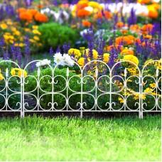Bordura pt. pat de flori / gard - 68 x 38 - alb