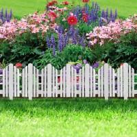 Bordura pt. pat de flori / gard - 61 x 30 - alb
