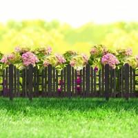 Bordura pt. pat de flori / gard - 61 x 30 cm - Negru
