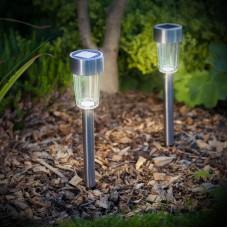 Lampă solară pentru grădină cu LED