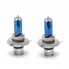Set de 2 becuri Halogen H4 - 100/90W + 110% intensitate Alb Xenon