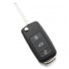 CARGUARD - Audi A8 - Carcasă cheie tip briceag cu 3 butoane, fără buton de panică