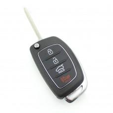 Hyundai - Carcasa cheie tip briceag, 3+1 butoane