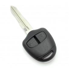 Mitsubishi - Carcasa cheie 2 butoane, lama pe stanga