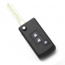 Nissan - Carcasa cheie tip briceag 2+1 butoane (modificat)