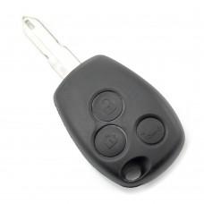 Dacia / Renault - Carcasa cheie cu 3 butoane si suport baterie din inox