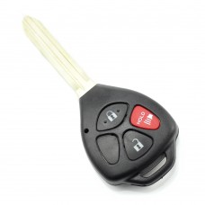 Toyota carcasa cheie 2+1 butoane cu buton rosu panica (fara logo)
