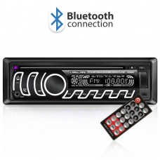 CD MP3 player auto cu BLUETOOTH, butoane in 7 culori diferite, FM, USB card SD, AUX IN