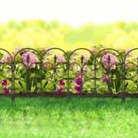 Bordura pt. pat de flori / gard - 68 x 38 - Negru