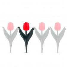 Bordură pt. strat de flori - cu lalele roşii