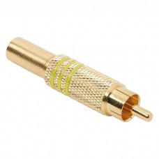 Fisa RCAplacat cu aurpt. cablu de maxim 6 mm