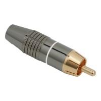 Fisa RCAcontact auritpt. cablu de maxim 6 mmcu inel de marcare