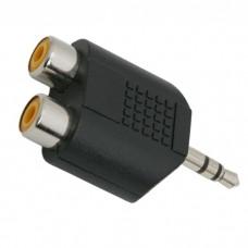 Adaptoare-Y RCA / JACK2 x soclu RCA-3,5 fisa st. JACK