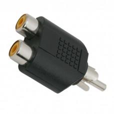 Adaptoare-Y RCA2 x soclu RCA-fisa RCA