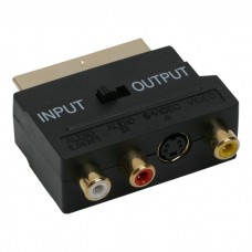 Adaptoare EURO / RCAsoclu 3 RCA si S-VHS-fisa EURO-SCARTplacat cu aur