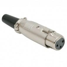 Soclu XLR • 3 poliExecutie filetatacu protectie pt. cablu din cauciuc
