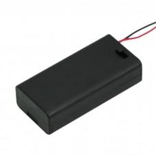 Cutii si carcase pt baterii2 buc. AA (baterie creion)cu intrerupator, cu capac