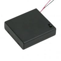 Cutii si carcase pt baterii4 buc. AA (baterie creion)cu intrerupator, cu capac