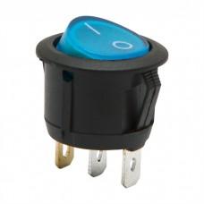 Interupator basculant1 circuit6A-250VON-OFFlumini de albastru