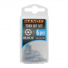 Set bit TORX, 6 piese in cutie de stocare