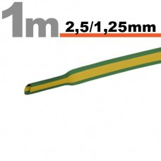 Tub termocontractibilGalben-verde • 2,5 / 1,25 mm