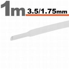 Tub termocontractibilAlb • 3,5 / 1,75 mm