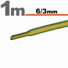 Tub termocontractibilGalben-verde • 6 / 3 mm