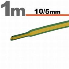 Tub termocontractibilGalben-verde • 10 / 5 mm