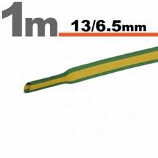 Tub termocontractibilGalben-verde • 13 / 6,5 mm