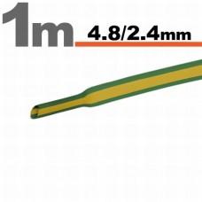 Tub termocontractibilGalben-verde • 4,8 / 2,4 mm