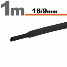 Tub Termocontractibil Negru • 18,0 / 9 mm