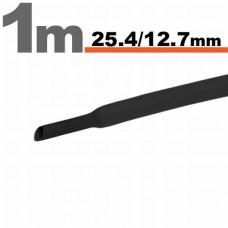 Tub Termocontractibil Negru• 25,4 / 12,7 mm