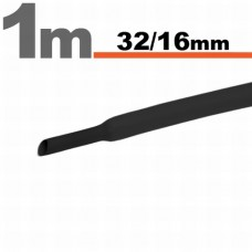 Tub Termocontractibil Negru • 32,0 / 16,0 mm